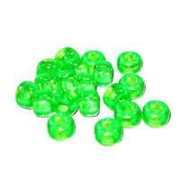 Plastic Crow Beads Transparent Flourescent Green 9mm 1000 Pack