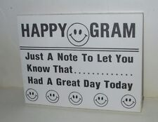 VINTAGE 1980'S HAPPY GRAM SHEETS TEACHERS PARENTS DAY CARE SCHOOL MESSAGE PAPERS