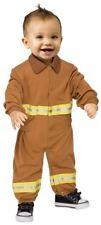 Fun World Fireman Snap-Close Jumpsuit Costume For Babies 6-12 Months