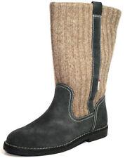 Bottes gris moyen en cuir pour fille de 2 à 16 ans