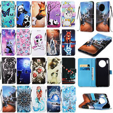 For Huawei Mate 30 Honor 8A 9X Diamond Pattern Leather Wallet Stand Case Cover