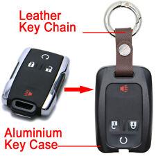 Aluminium Black Remote Key Fob Shell Case for Chvey Chevrolet Silverado Colorado