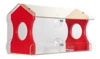Window Bird Feeder by JCs Wildlife Holds 4 Cups Red Recycled Poly Free Shipping