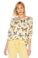 Wildfox Couture Womens Flutter Away Sommers Sweater Yellow