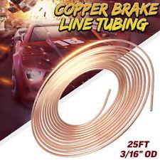 25ft Copper Nickel Brake Pipe Inline Hose Line Tubing Coil Roll 3/16'' OD