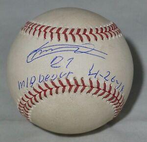 Vladimir Guerrero Jr. Signed Auto MLB DEBUT 4/26/19 GAME BASEBALL + MLB HOLO