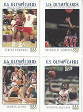 1992 IMPEL OLYMPIC HOPEFULS USA WOMEN'S BASKETBALL 4 CARD SUBSET *RARE*  EDWARDS