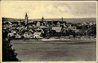Nový Bydžov Tschechien Česká Böhmen AK ~1940 Kirche Stadt Häuser Panorama Felder