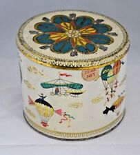 Baret Ware Art Grace England balloon flights  circular tin