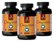 Fatty Acids Softgels - OMEGA 8060 3000mg - Preventing Hair Loss - 3 Bottles