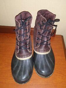 Men's Sorel Boots Leather/Natural Rubber Size 10