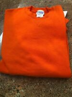 Men's Discus Set In Sleeve Crew Sweat Shirts In Orange Size XL 50/50 Blend (32)