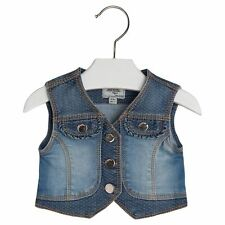 Mayoral Baby Girl 3M-24M Mix Media Denim Vest