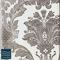 """Luxury Shimmering Grey Silver 66"""" x 72"""" Curtains Pair Pencil Pleat Lined Floral"""