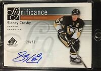 RARE 11-12 SP Game Used Significance Sidney Crosby Authentic Signature 20/50