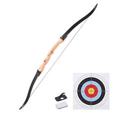 "65"" Recurve Long Bow Draw Right Hand Traditional Archery Hunting Take Down 30lbs"