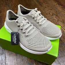 Crocs Men's Literide Pacer M Shoes Cobblestone White Mens Size 8 204967-2ZB NEW