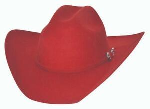 New KINGMAN 4X Red QUALITY Premium Wool Western Cowboy Hat Bullhide MonteCarlo