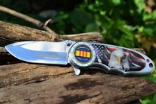 Commemorative Vietnam War Veterans Folding Pocket Knife - US Military