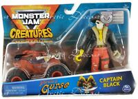 Spin Master Monster Jam Creatures - Pirate's Curse Truck & Captain Black Figure