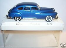 SOLIDO CHRYSLER WINDSOR 1946 BLEU METAL REF 4513 MARS 1988 DECALQUES  1/43 BOX