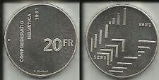 SVIZZERA 20 FRANCHI 1991 B