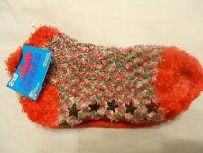 Girls Slipper Socks Shoe 2-6 M/L Anklet Red Green White Multi Children