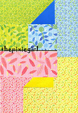 """ORIGAMI PAPER DOUBLE SIDED LEAF PATTERN 20 SHEETS 6"""""""