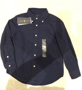Ralph Lauren  Boy's  100% Cotton Navy Shirt (Size 4 Years)