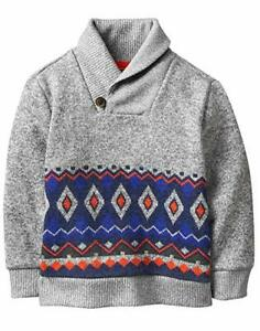 Crazy 8 Boys' Patterned Shawl Collar Sweater 6-12 Months