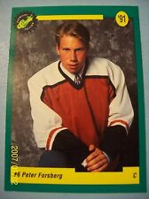 1991-92 Classic Premiere Edition CHL # 6 Peter Forsberg RC!