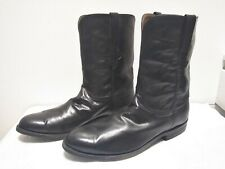Lucchese Western Cowboy Middle Boots Low Heel Shoes Men's US13D Vintage #555