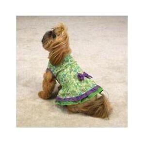 Dog Tiered Ruffle Sundress Green Dress XXS XXSmall