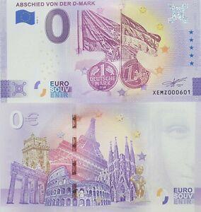 0 Euro Schein Abschied von der D-Mark - Souvenir Null € Sammler-Banknote