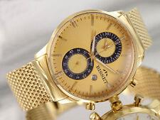 BISSET PORTRIGE GOLD BSDD88 CHRONOGRAPH Herrenuhr Swiss Made Armbanduhr