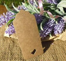 50 vintage style brown card heart gift tags - Favours Wedding guest homemade