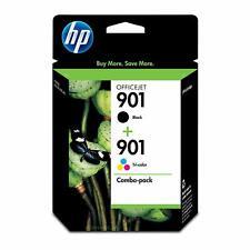 HP 901 Lot de 2 cartouches d'encre d'origine noir/tricolore (CN069FN)