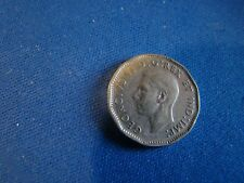 1947 Canada 5 Cents No Maple Leaf Variety Very Fine -Extra fine Please See Pics