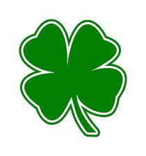 (2) FOUR LEAF CLOVER Vinyl Decal Die Cut Sticker Lucky Irish Car Windw Tumblr