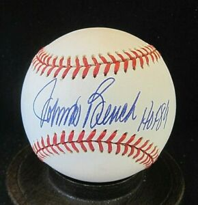 "Johnny Bench Signed ONL Baseball JSA Certified, w/""HOF '89"", Cincinnati Reds"