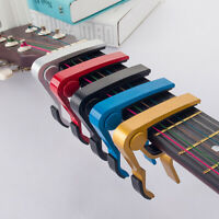 HN- Aluminum Alloy Metal Wood Grain Guitar Capo Guitar Ukulele Tuning Clamp Clip
