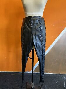 Lace Up Leather Pleather Trousers Ann Summers 10