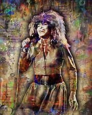 Tina Turner Poster, Tina Turner Tribute Artwork, Tina Pop 20x30in Free Shipping