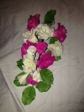 Hot Pink and Ivory Rose Spray