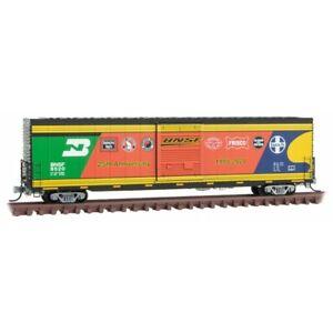 N Micro Trains 104 00 080 BNSF 25th Anniversary 60' Box Car Excess Height 9520