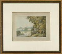 Attrib. John White Abbott (1763-1851) - Framed c.1790 Watercolour, Country