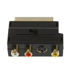 RGB Scart to Composite RCA+S-Video AV TV Audio Adapter BT
