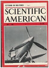 Scientific American Magazine July 1942 US Army Plane Sir CV Raman RW Tauri