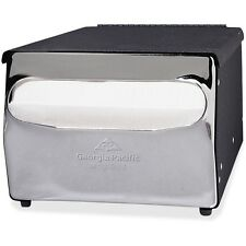 "Georgia Pacific Napkin Dispenser 7-7/8""x11-1/2""x5-7/8"" Black Chrome 51202"