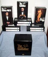 The Godfather I II & III Collection (VHS 1992 6-Tape Set) 1 2 & 3 Box set EUC